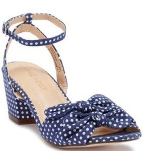 💙CHASE & CHLOE BLUE POLKA DOT VENUS SANDALS